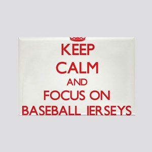Keep Calm and focus on Baseball Jerseys Magnets