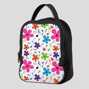 Music Flowered Design Neoprene Lunch Bag