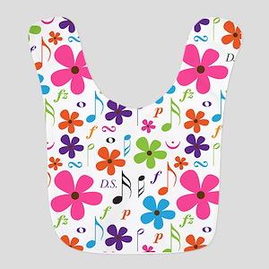 Music Flowered Design Bib