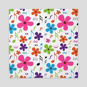 Music Flowered Design Queen Duvet