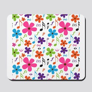 Music Flowered Design Mousepad
