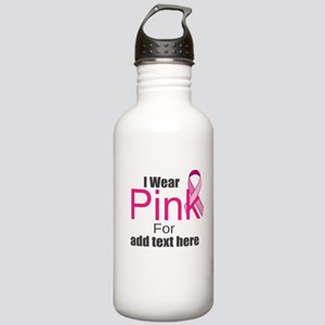 custom i wear pink Stainless Water Bottle 1.0L