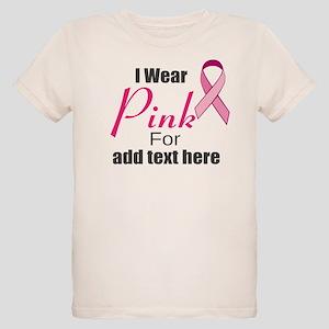 custom i wear pink Organic Kids T-Shirt