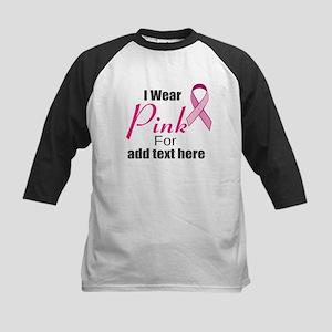 custom i wear pink Kids Baseball Jersey