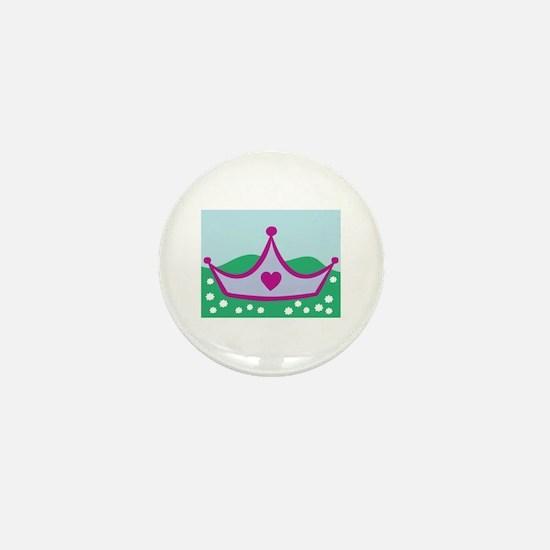 Princess Crown Mini Button