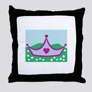 Princess Crown Throw Pillow