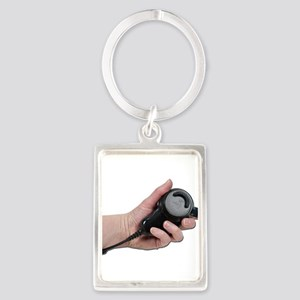Holding Microphone Keychains
