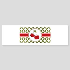 Cherries Border Bumper Sticker
