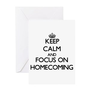 Homecoming Greeting Cards Cafepress