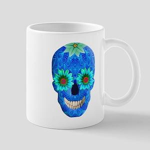 Blue Day Of The Dead Skull Mugs