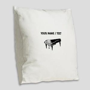Custom Piano Burlap Throw Pillow