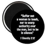 1 Timothy 2:12 Magnet