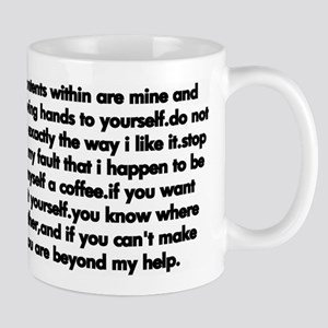 talkative mug black on white Mugs