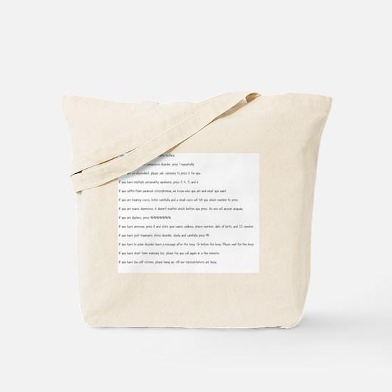 Funny Mentalism Tote Bag