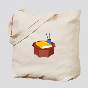 Table Pencil Booklet Tote Bag