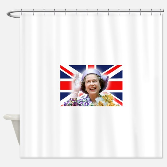 HM Queen Elizabeth II Shower Curtain