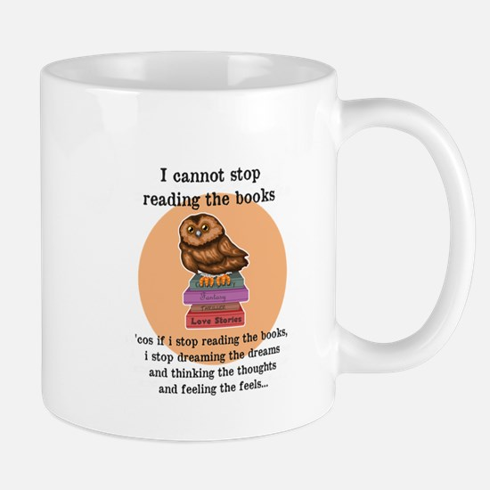 I can't stop reading the books Mugs