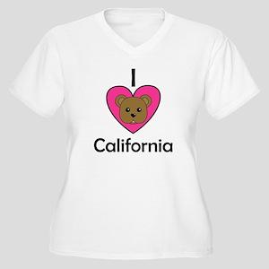 I Love California Women's Plus Size V-Neck T-Shirt