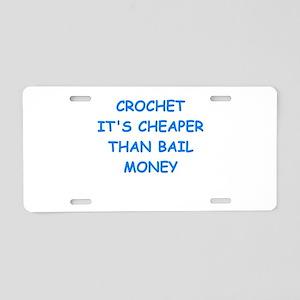 crochet Aluminum License Plate