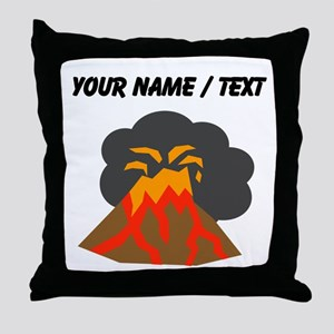 Custom Erupting Volcano Throw Pillow