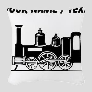 Custom Locomotive Woven Throw Pillow