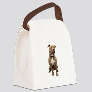 Pit Bull #1 (bw) Canvas Lunch Bag