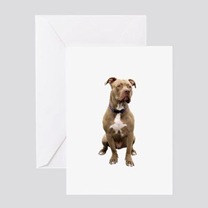 Pit Bull #1 (bw) Greeting Card