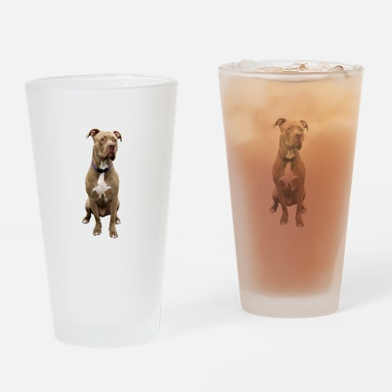 Pit Bull #1 (bw) Drinking Glass