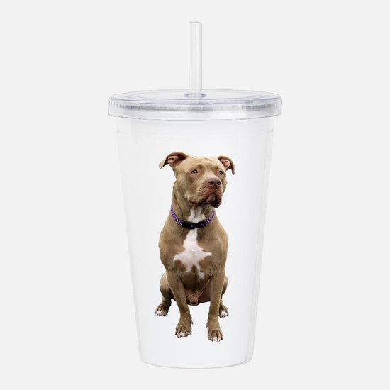 Pit Bull #1 (bw) Acrylic Double-wall Tumbler