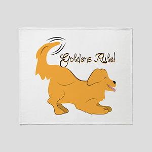 Goldens Rule! Throw Blanket