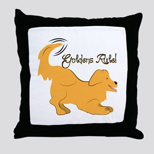 Goldens Rule! Throw Pillow