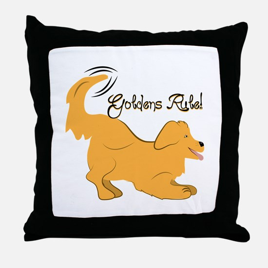 Goldens Rule! Throw Pillow