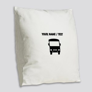Custom Motorhome Burlap Throw Pillow