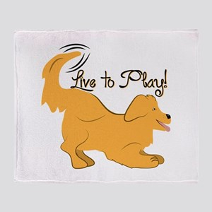 Live To Play! Throw Blanket