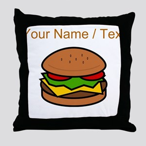 Custom Hamburger Throw Pillow