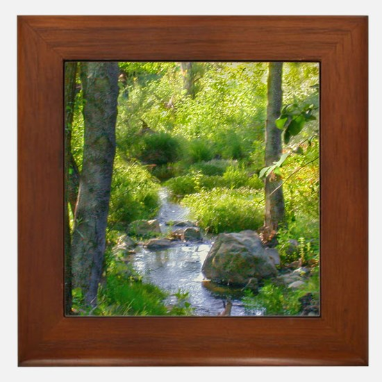 Down by the Creek Framed Tile