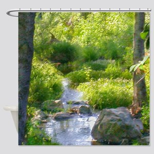 Down by the Creek Shower Curtain