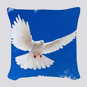 Purity Dove Woven Throw Pillow