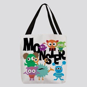 Monsters Polyester Tote Bag
