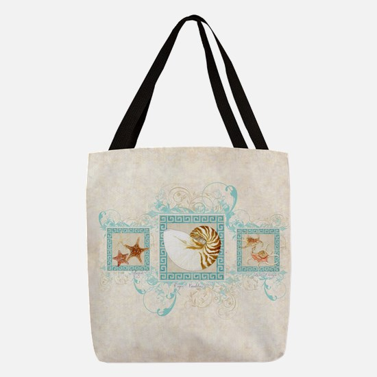 Nautilus Starfish Spider Conch  Polyester Tote Bag
