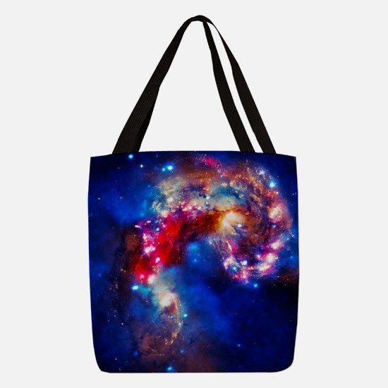 Colorful Cosmos Polyester Tote Bag