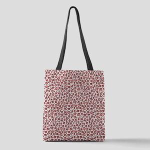 Pink Leopard Animal Print Patte Polyester Tote Bag