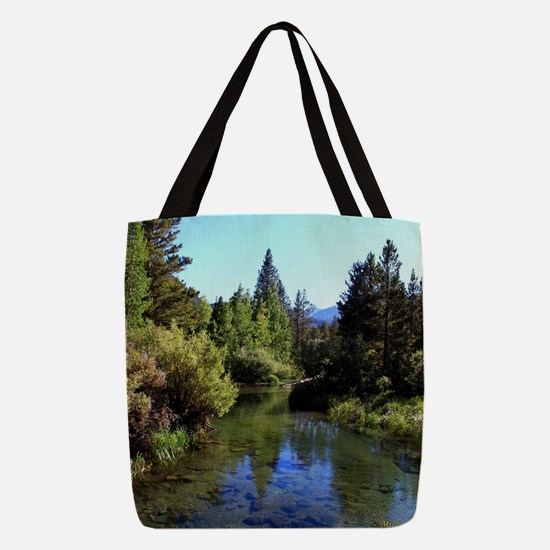 Mountain Reflections Polyester Tote Bag