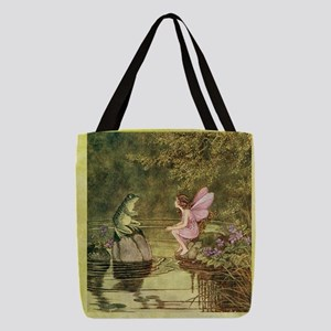 Frog Begging Fairy Child Polyester Tote Bag
