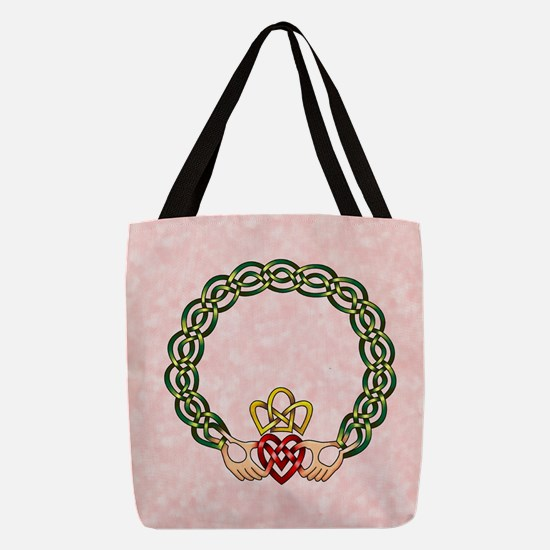 Claddagh2 Polyester Tote Bag