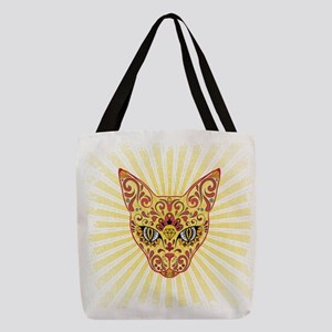 Cool Egyptian style mystic cat Polyester Tote Bag