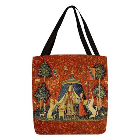 Lady and the Unicorn Medieval T Polyester Tote Bag