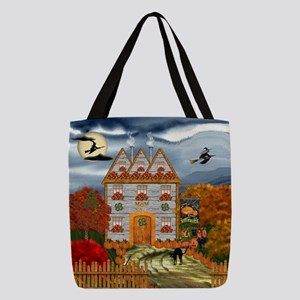 Samhain Cottage Polyester Tote Bag