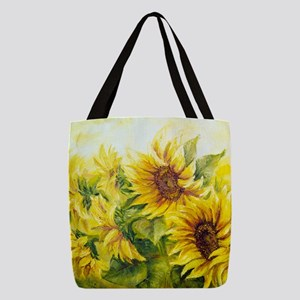 0cb8c80dd4 Sunflowers Oil Painting Polyester Tote Bag
