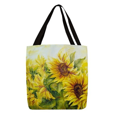 Sunflowers Oil Painting Polyester Tote Bag